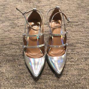 Iridescent Strappy Mary Jane Stilettos